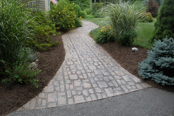 Stamped Concrete Walkways