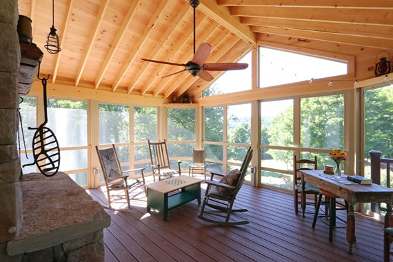 Storrs New Screen Porch